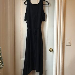 Lou & Grey Black cutout midi dress NWT size L